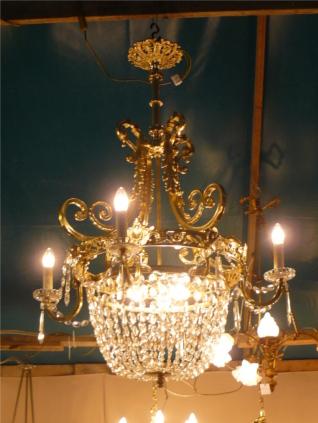 Atelier du Bronze, restauration de lustre ancien, rénovation de lustre ancien, électrification de lustre